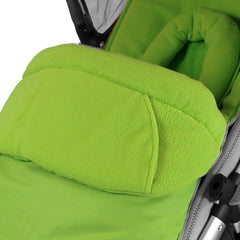 Lime Padded Footmuff & Liner To Fit Quinny Zapp Petite Star Zia Obaby Zoma - Baby Travel UK  - 2