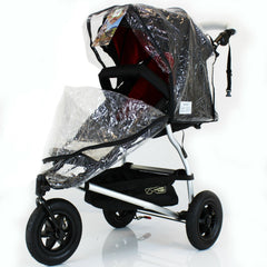 Rain Cover For Mountain Buggy Urban Weather Shield 3 Wheeler - Baby Travel UK  - 3