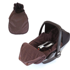 Baby Car Seat Footmuff Fits Maxi Cosi, Silver Cross Britax HOT CHOCOLATE - Baby Travel UK  - 4