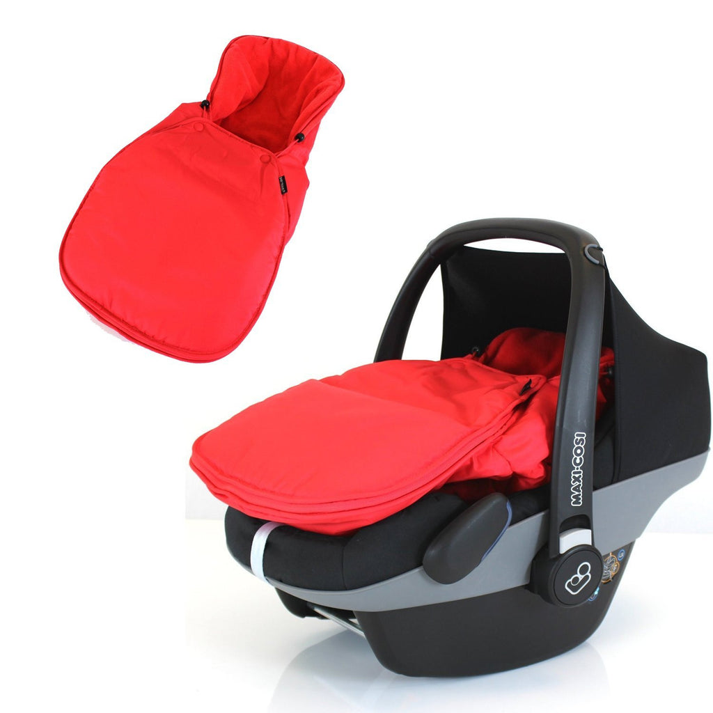 Newborn Baby Car Seat Footmuff NEW For Maxi Cosi, Silver Cross Britax WARM RED - Baby Travel UK  - 4