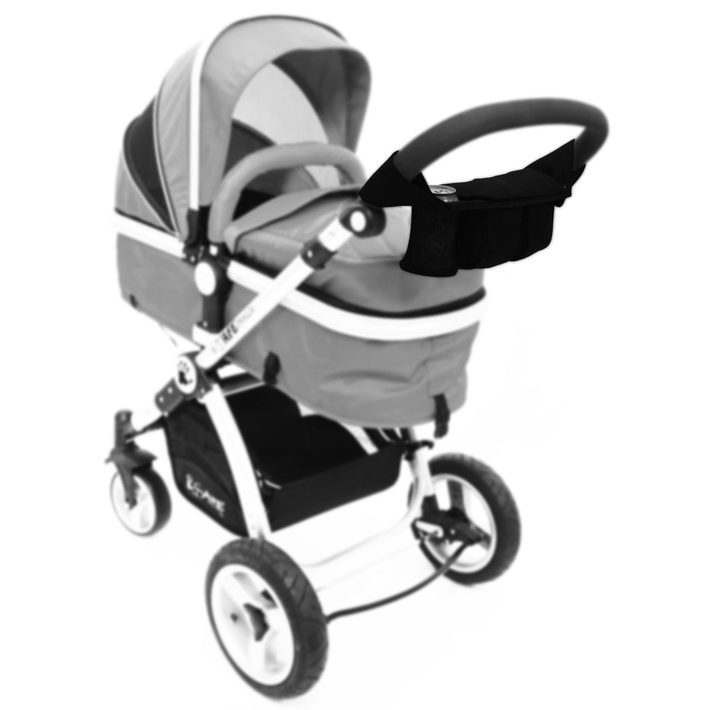 iSafe Pram Parent Console Organiser For Carrera Sport 3 in 1 Carrycot - Baby Travel UK  - 7