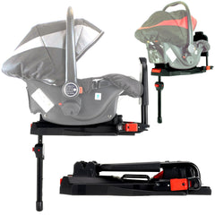 iSafe 3 in 1  Pram System - Lime Carseat Isofix Base + Footmuff & Raincover Package - Baby Travel UK  - 14
