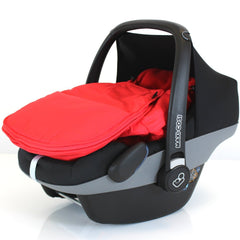 Carseat Footmuff Warm Red Fits Jane Strata Car Seat Pram Travel System - Baby Travel UK  - 3