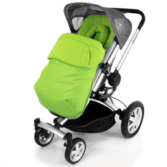 Lime Padded Footmuff & Liner To Fit Quinny Zapp Petite Star Zia Obaby Zoma - Baby Travel UK  - 3