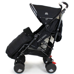 New Fleece Lined Footmuff To Fit Petite Star Zia Pushchair, Quinny Buzz Black - Baby Travel UK  - 4