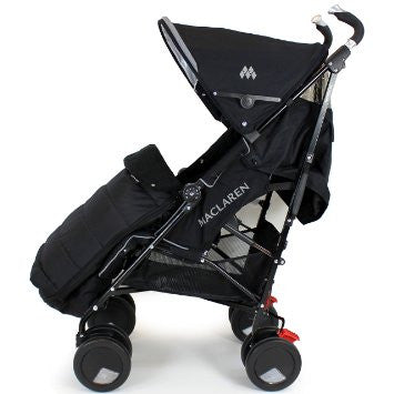 New Luxury Footmuff Liner - Black Fit Obaby Atlas, Tippitoes Stroller Mamas & Pa - Baby Travel UK  - 1