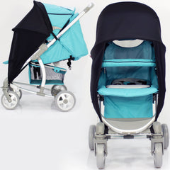 SUNNY SAIL Shade for SILVER CROSS 3D PRAMETTE Stroller shade parasol substitute - Baby Travel UK  - 6