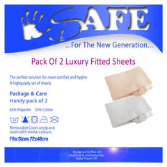Pack Of 2 Luxury Fitted Sheets For Graco Petite Bassinet Travel Cot - Baby Travel UK  - 3