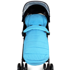 New Luxury Footmuff Liner Ocean (blue) Fit Obaby Atlas Tippitoes Stroller - Baby Travel UK  - 4