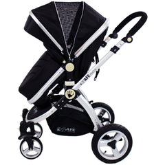 iSafe System - Black Pram Travel System Carseat & iSOFIX Base Package - Baby Travel UK  - 7