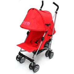 Baby Stroller Zeta Vooom Warm Red +XXL Large Padded Footmuff Liner Buggy Pushchair - Baby Travel UK  - 8