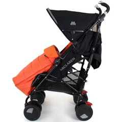 New Luxury Padded Footmuff Liner Orange Fit Obaby Atlas Tipitoes Stroller - Baby Travel UK  - 4