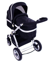 iSafe System - Black Pram Travel System Carseat & iSOFIX Base Package - Baby Travel UK  - 8