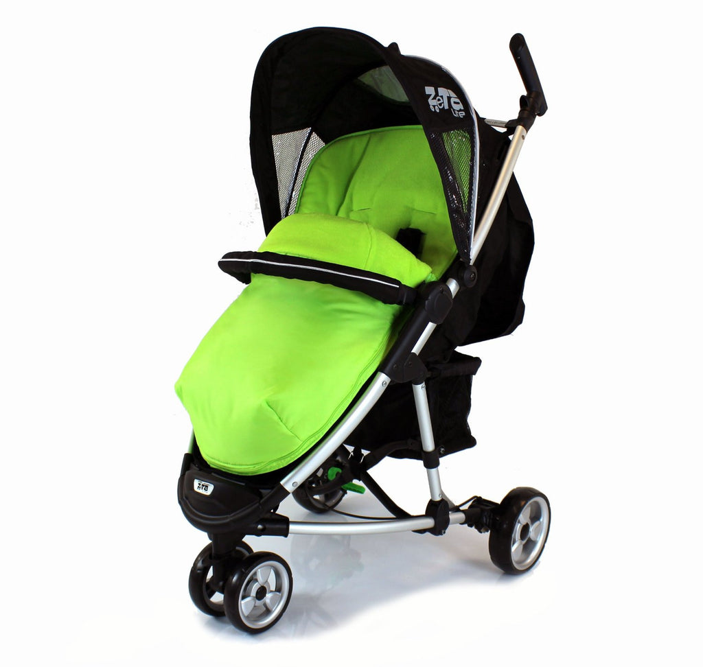 New Lime Padded Footmuff & Liner To Fit Quinny Zapp Petite Star Zia Obaby Zoma - Baby Travel UK  - 1
