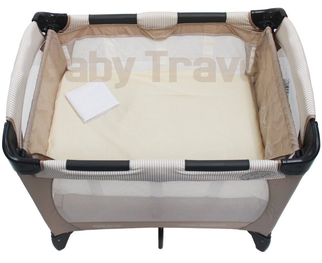 Pack Of 2 Luxury Fitted Sheets For Graco Petite Bassinet Travel Cot - Baby Travel UK  - 1