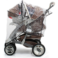 Raincover Zipped For Graco Quattro Tour Sport Travel System - Baby Travel UK  - 5