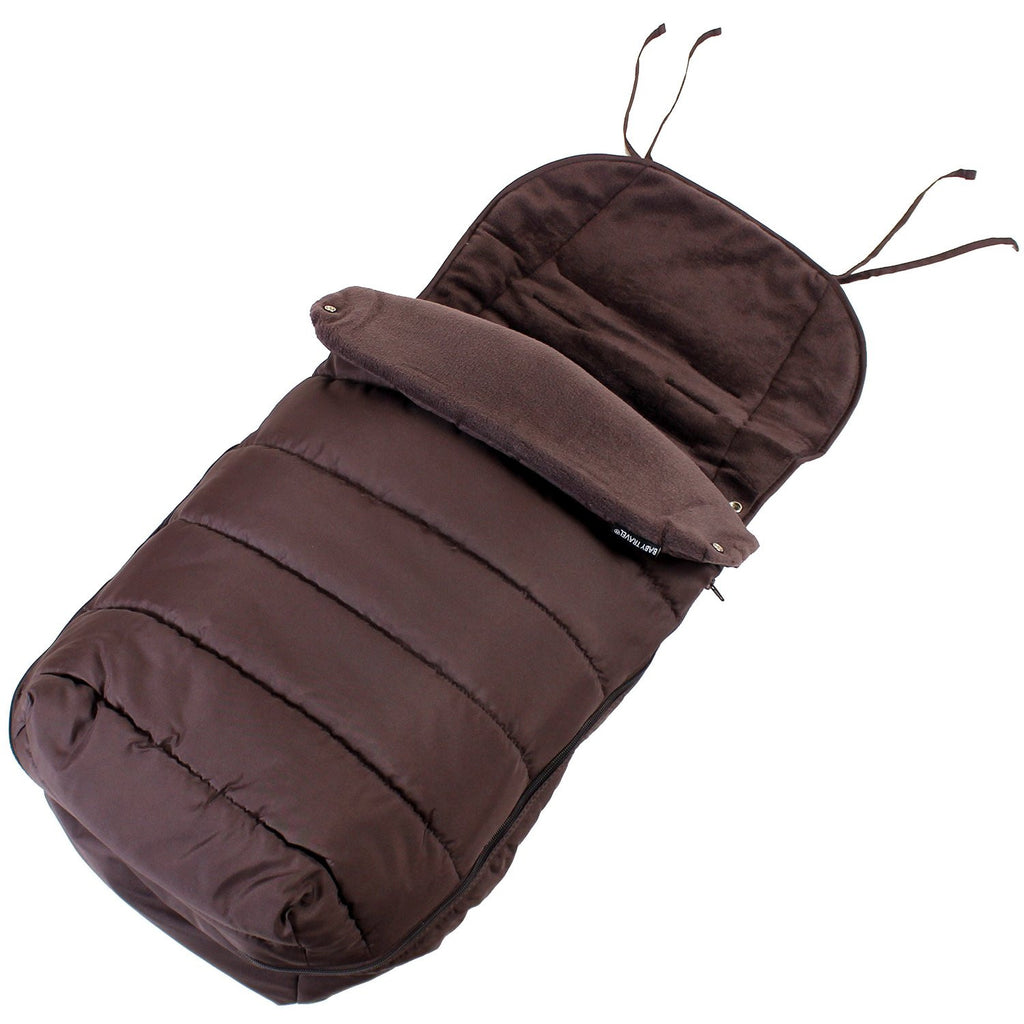 New Luxury Footmuff - Hot Chocolate Fit Maclaren Quest Triumph Techno 2012 Rangre - Baby Travel UK  - 1