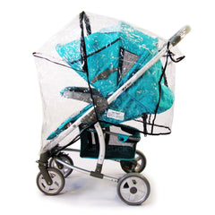 Rain Cover Cover For Hauck Malibu Fits Carseat Carrycot Stroller 3 In 1 - Baby Travel UK  - 3