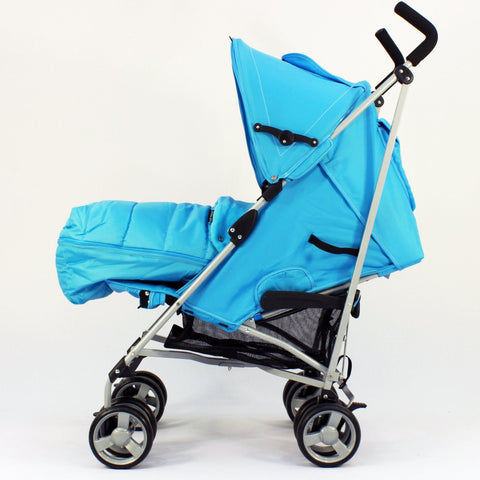 New Zeta Vooom Ocean (complete Plain) Padded Footmuff Liner Stroller Pushchair