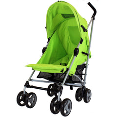 Zeta Vooom Atlas Lime Stroller Buggy Pushchair - Lime - Baby Travel UK  - 6