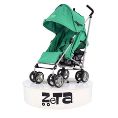 Baby Travel Zeta Vooom Pushchair Pram Stroller - Leaf + Mc Large Leaf Footmuff - Baby Travel UK  - 2