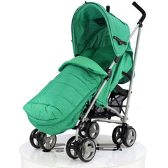 Baby Travel Zeta Vooom Pushchair Pram Stroller - Leaf + Mc Large Leaf Footmuff - Baby Travel UK  - 1