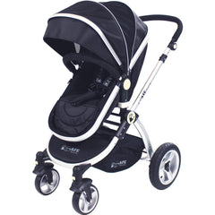 iSafe System - Black Pram Travel System Carseat & iSOFIX Base Package - Baby Travel UK  - 5