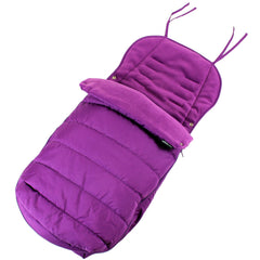 New Luxury Padded Footmuff Liner - Plum Fit Maclaren Quest Triumph Techno Zeta - Baby Travel UK  - 2