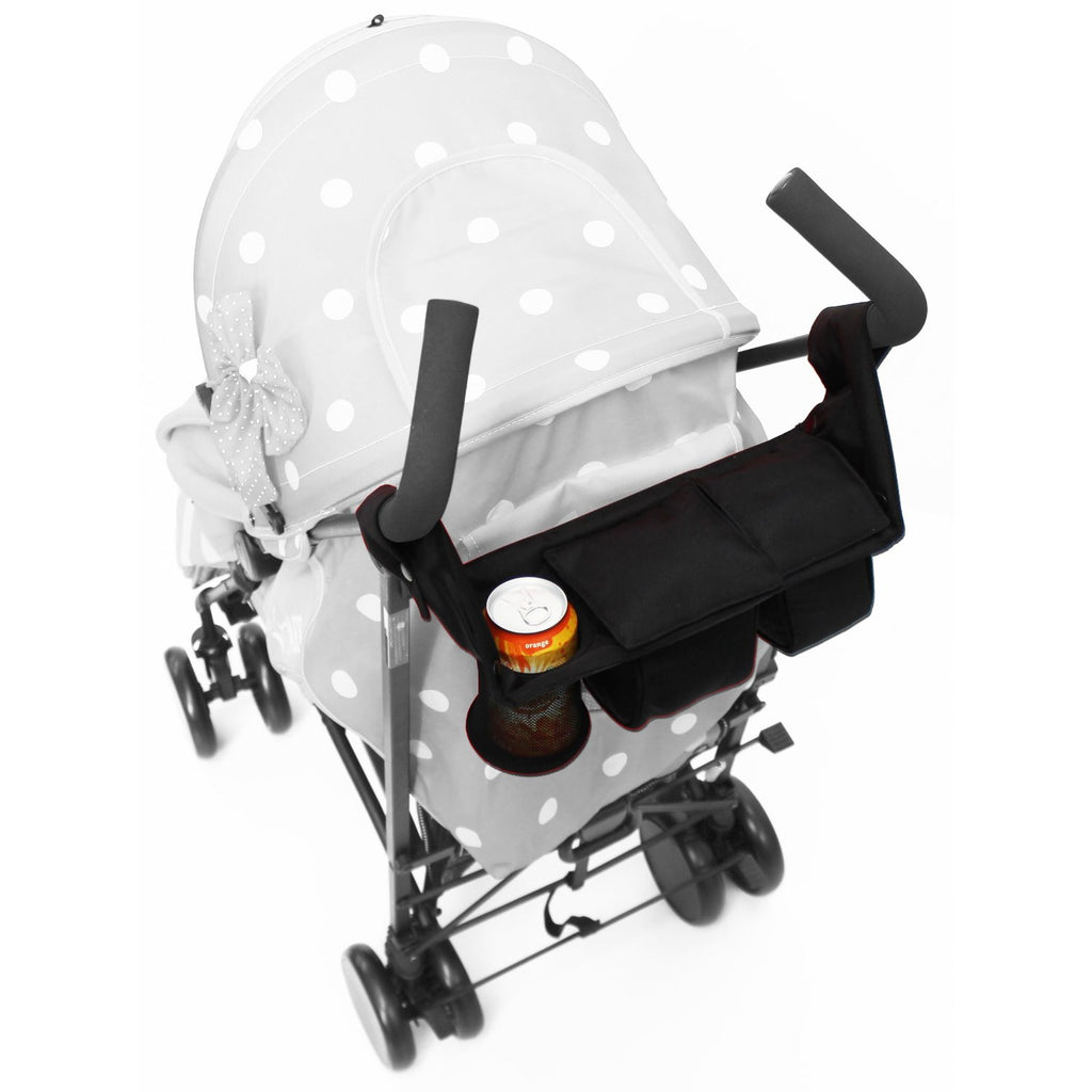 iSafe Pram Parent Console Organiser For Carrera Sport 3 in 1 Carrycot - Baby Travel UK  - 3
