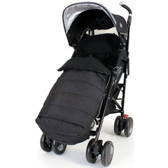 Black Universal Pushchair Stroller Buggy Footmuff - Baby Travel UK  - 10