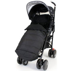 New Luxury Footmuff Liner - Black Fit Obaby Atlas, Tippitoes Stroller Mamas & Pa - Baby Travel UK  - 4