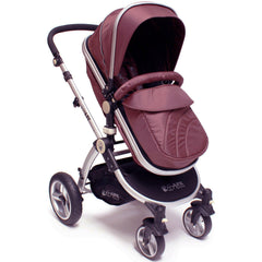 iSafe 3 in 1  Pram System - Hot Chocolate With Carseat, Footmuff & Raincover Package - Baby Travel UK  - 5