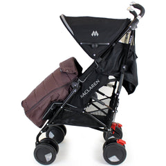 New Luxury Footmuff - Hot Chocolate Fit Maclaren Quest Triumph Techno 2012 Rangre - Baby Travel UK  - 4