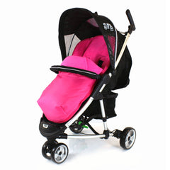 NEW Pink Padded Footmuff & Liner To Fit Quinny Zapp Petite Star Zia oBaby Zoma - Baby Travel UK