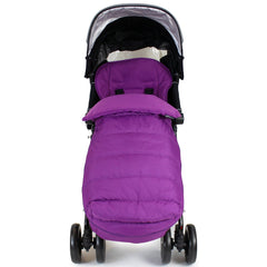 New Luxury Padded Footmuff Liner - Plum Fit Maclaren Quest Triumph Techno Zeta - Baby Travel UK  - 3