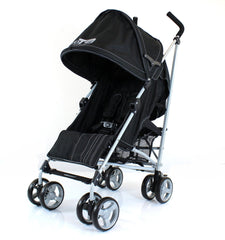 Baby Stroller Zeta Vooom Black Complete Moon & Stars H&S Black Complete - Baby Travel UK  - 4