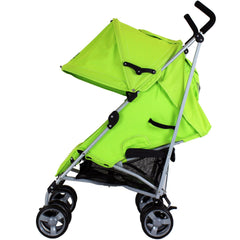 Zeta Vooom Lime Silver Frame Pop Of Hood Cross Harness - Baby Travel UK  - 2