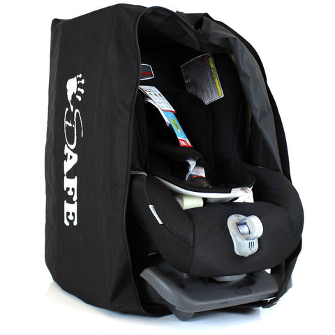 iSafe Carseat Travel / Storage Bag For Axkid Kidzone Car Seat (Black/Tetris)