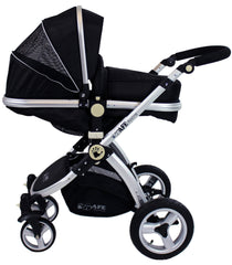 iSafe System - Black Pram Travel System Carseat & iSOFIX Base Package - Baby Travel UK  - 4