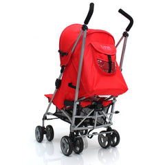 Zeta Vooom Stroller Warm Red + Buggy Organiser + Raincover Large Shade Hood - Baby Travel UK  - 4
