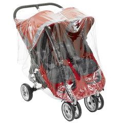 Twin Baby Jogger City Mini Series Double Raincover - Baby Travel UK  - 1
