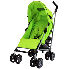 Zeta Vooom Atlas Lime Stroller Buggy Pushchair - Lime - Baby Travel UK  - 4