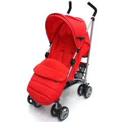 Baby Stroller Zeta Vooom Warm Red +XXL Large Padded Footmuff Liner Buggy Pushchair - Baby Travel UK  - 3