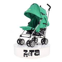 Baby Travel Zeta Vooom Pushchair Pram Stroller - Leaf + Mc Large Leaf Footmuff - Baby Travel UK  - 4
