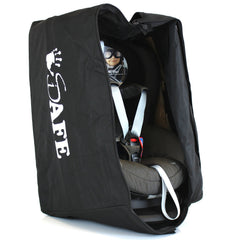 iSafe Universal Carseat Travel / Storage Bag For Kiddy Guardian Pro Car Seat (Racing Black) - Baby Travel UK  - 6