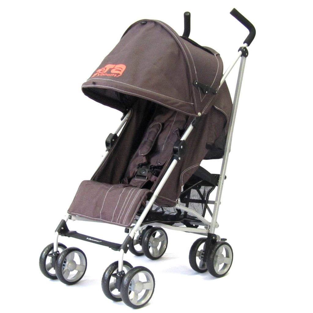 Baby Stroller Zeta Vooom - Hot Chocolate With Free XXL Large Padded Footmuff Pushchair Liner - Baby Travel UK  - 4