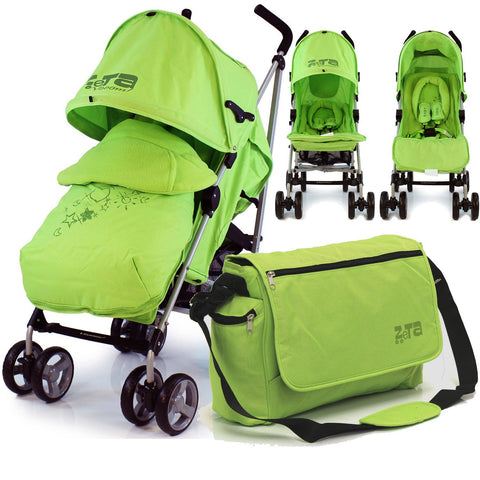 Baby Stroller Zeta Vooom Complete Lime (Lemon) With Changing Bag