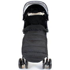 Black Universal Pushchair Stroller Buggy Footmuff - Baby Travel UK  - 8