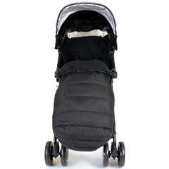 New Luxury Footmuff - Black Fit Maclaren Quest Triumph Techno 2012 Range - Baby Travel UK  - 4