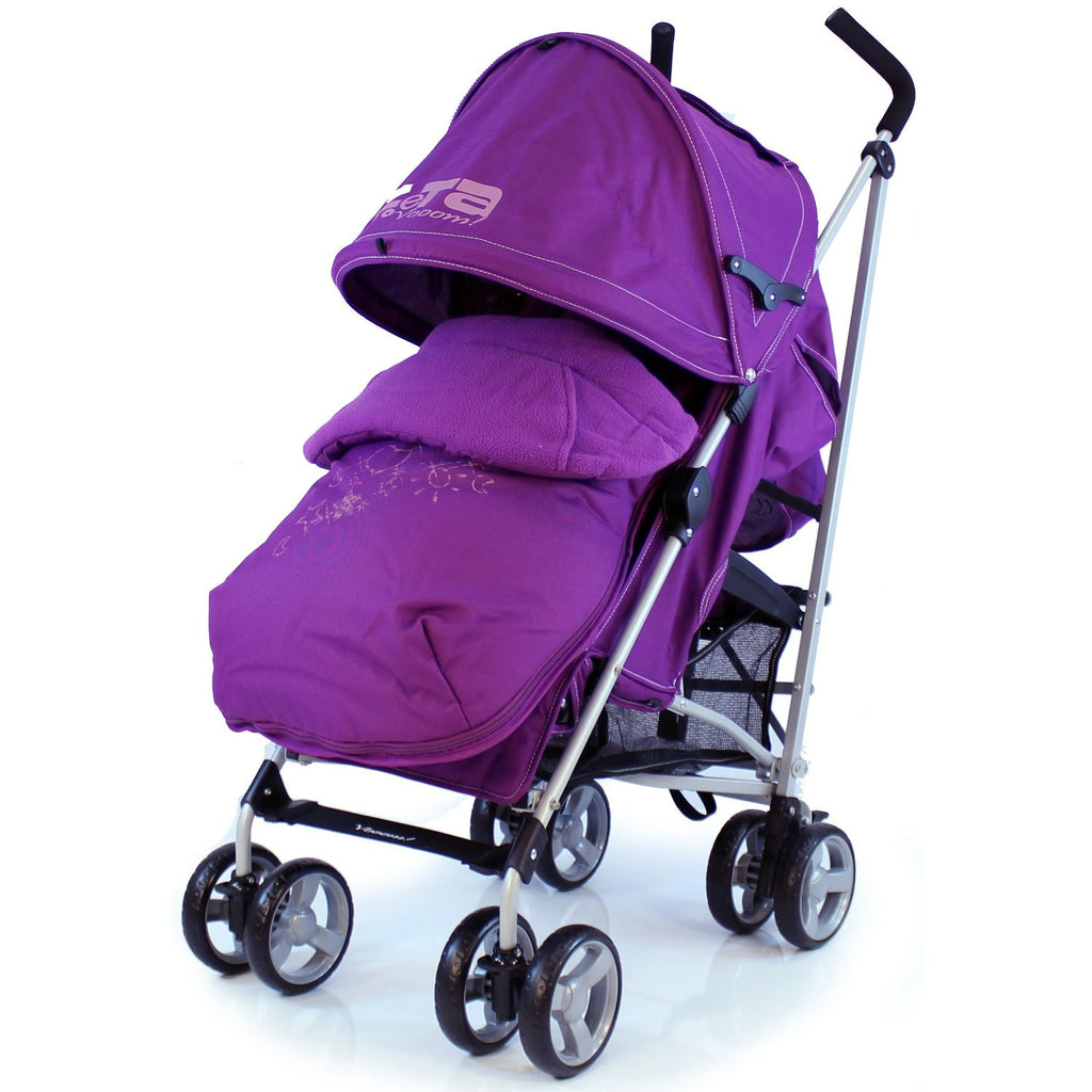 Baby Stroller Zeta Vooom Hearts And Stars Complete Plum - Baby Travel UK  - 1
